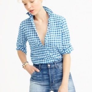 J. Crew Spring Gingham The Perfect Shirt